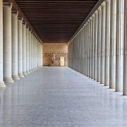 Column arcade of museum