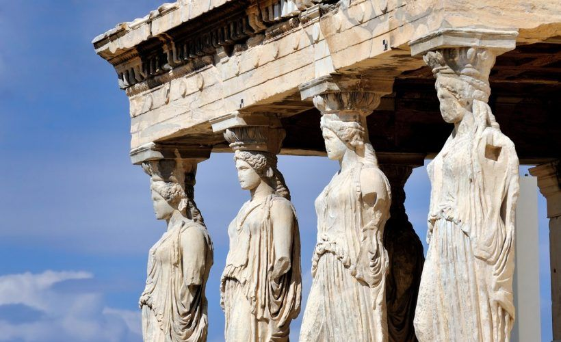 Caryatides at Acropolis, Athens, Greece